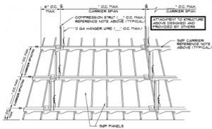 Hunter Douglas 150F exterior metal ceiling
