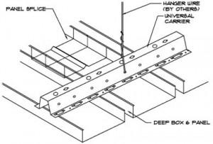 Hunter Douglas deep box series exterior metal ceiling
