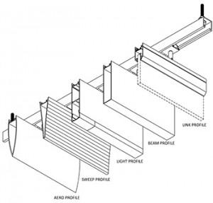 Hunter Douglas high profile baffle ceiling system