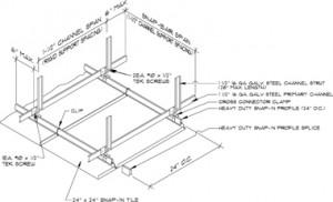 Hunter Douglas snap-in exterior metal ceiling
