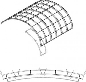 Hunter Douglas Woodwright curved torsion spring ceiling
