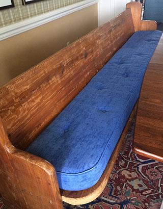 large bench custom cushion
