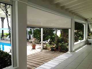 Solar Point retractable hurricane screen