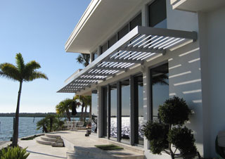 airfoil sunshade residential