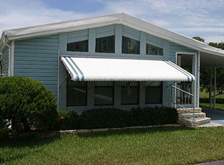 fixed aluminum awning