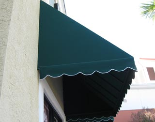 fixed fabric awning detail
