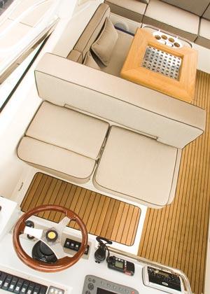 Sunbrella marine fabric seat cushion