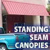 Awning Works Inc Standing Seam Canopy Gallery
