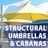 Awning Works Inc. Structural Umbrellas and Cabana Gallery