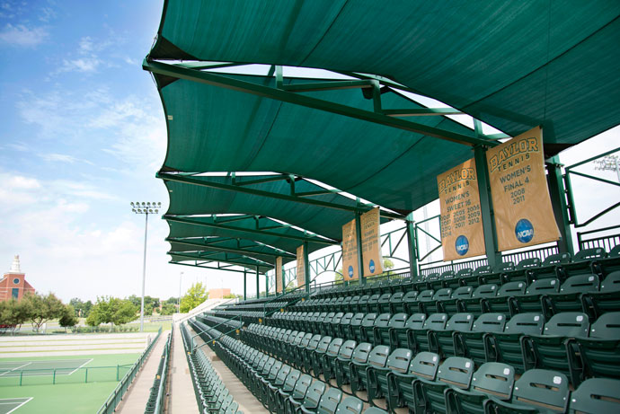 stadium cantilever tension sunshade canopy