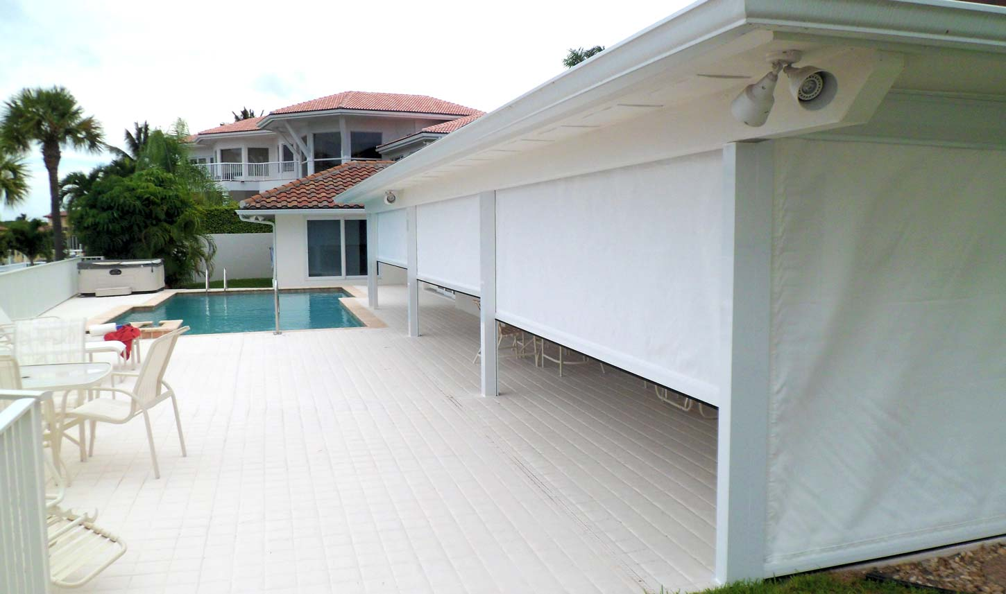Solar Point retractable hurricane screens