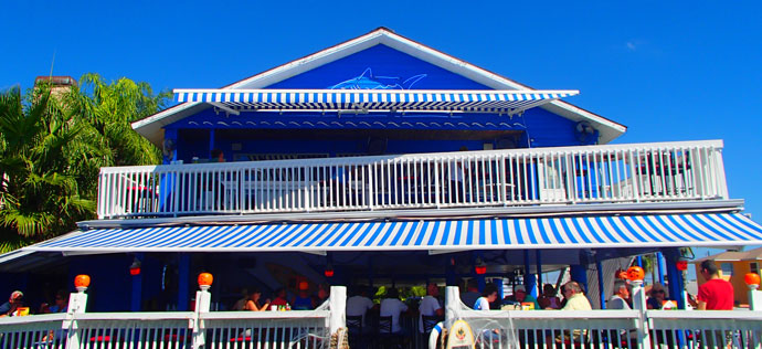 Shark Tales restaurant and Durasol Elite retractable awnings