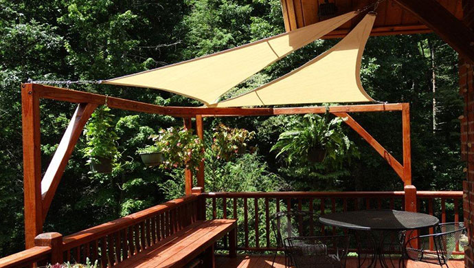 Awning Works Inc. tension shade sails