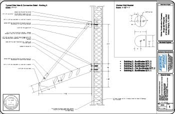 engineered aluminum sunshade cad drawing