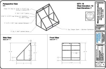 engineered welded aluminum awning cad drawing