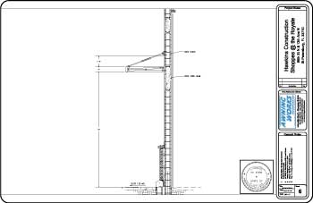 engineered section view cad drawing