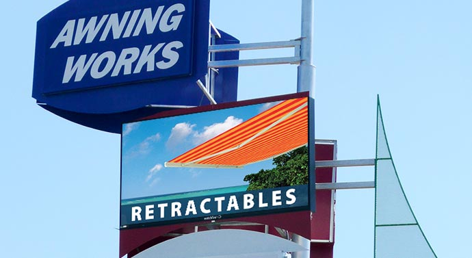 Awning Works Watchfire LED signage