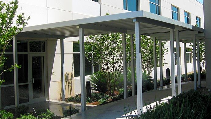 Metal Aluminum Walkway Canopies