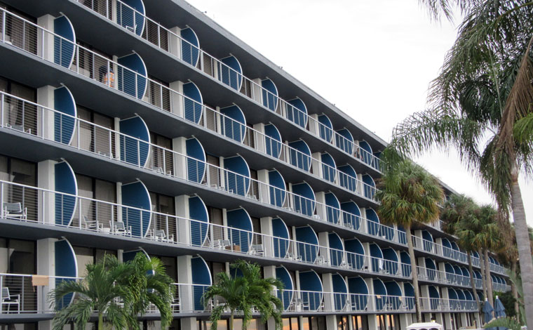 Hotel Renovation Includes Custom Balcony Dividers To
