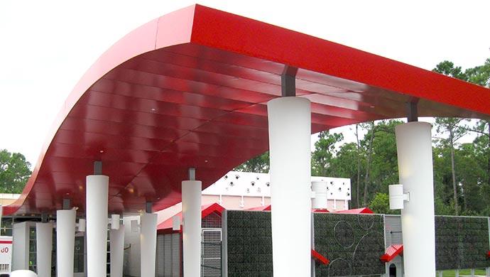 Fabric Walkway Canopies