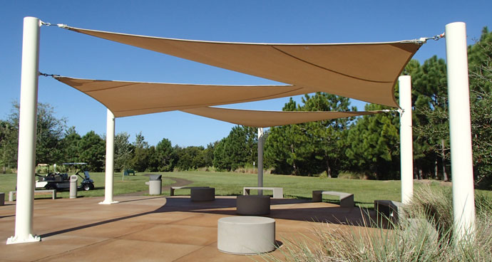 Shade sails at St. Petersburg College Seminole c&us & Shade Sails u0026 Tension Sun Shades