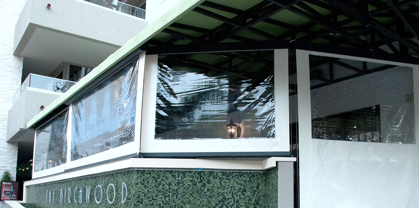 KE Outdoor retractable shade at the Birchwood, St. Pete