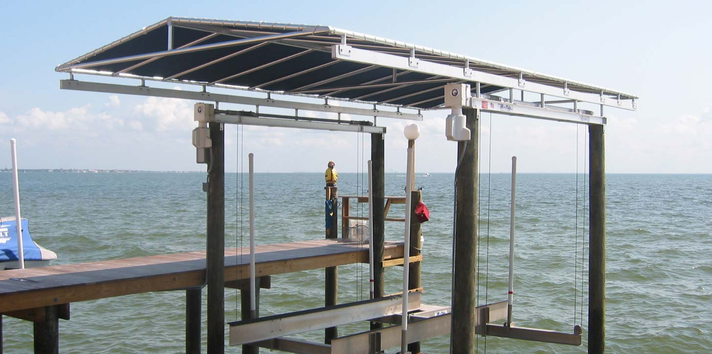 Boat Lift Canopies - Awning Works Inc.