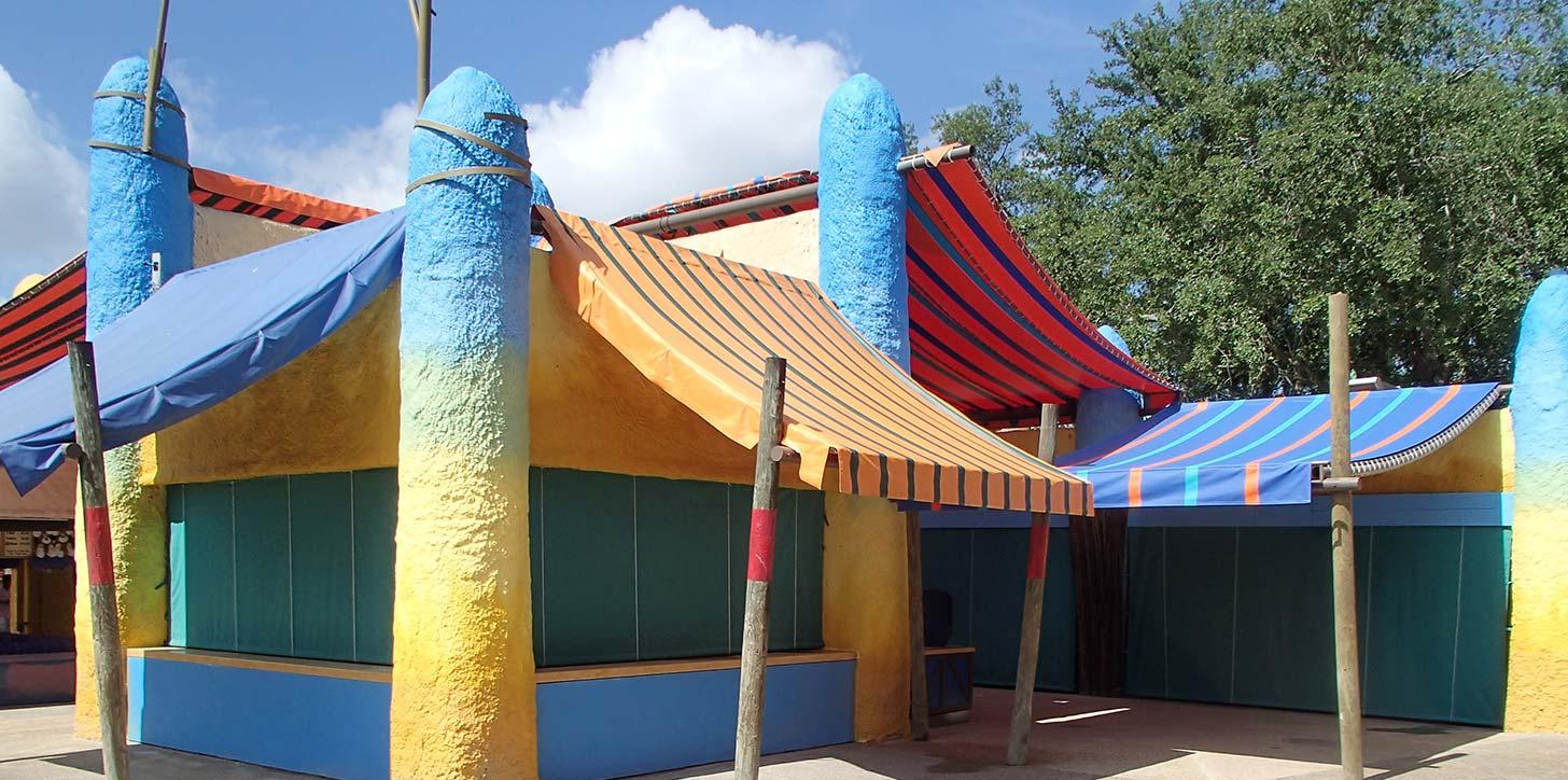 roll curtains - Busch Gardens, Tampa, FL