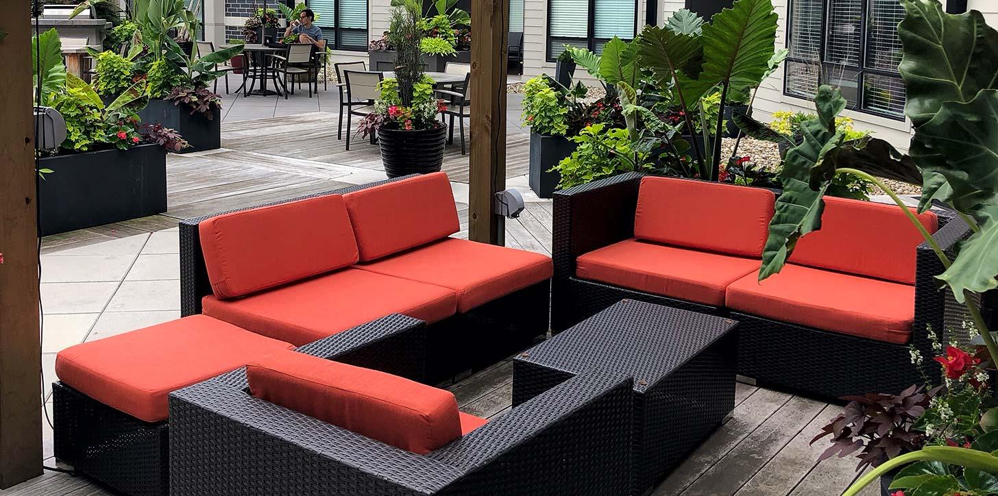 commercial custom cushions