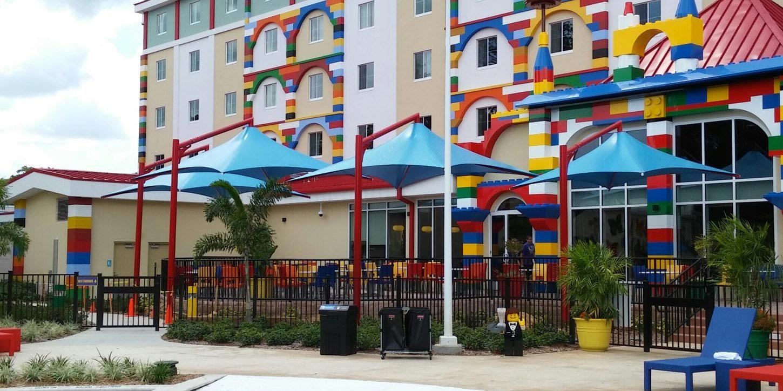 Skyspan structural umbrellas at Legoland, FL