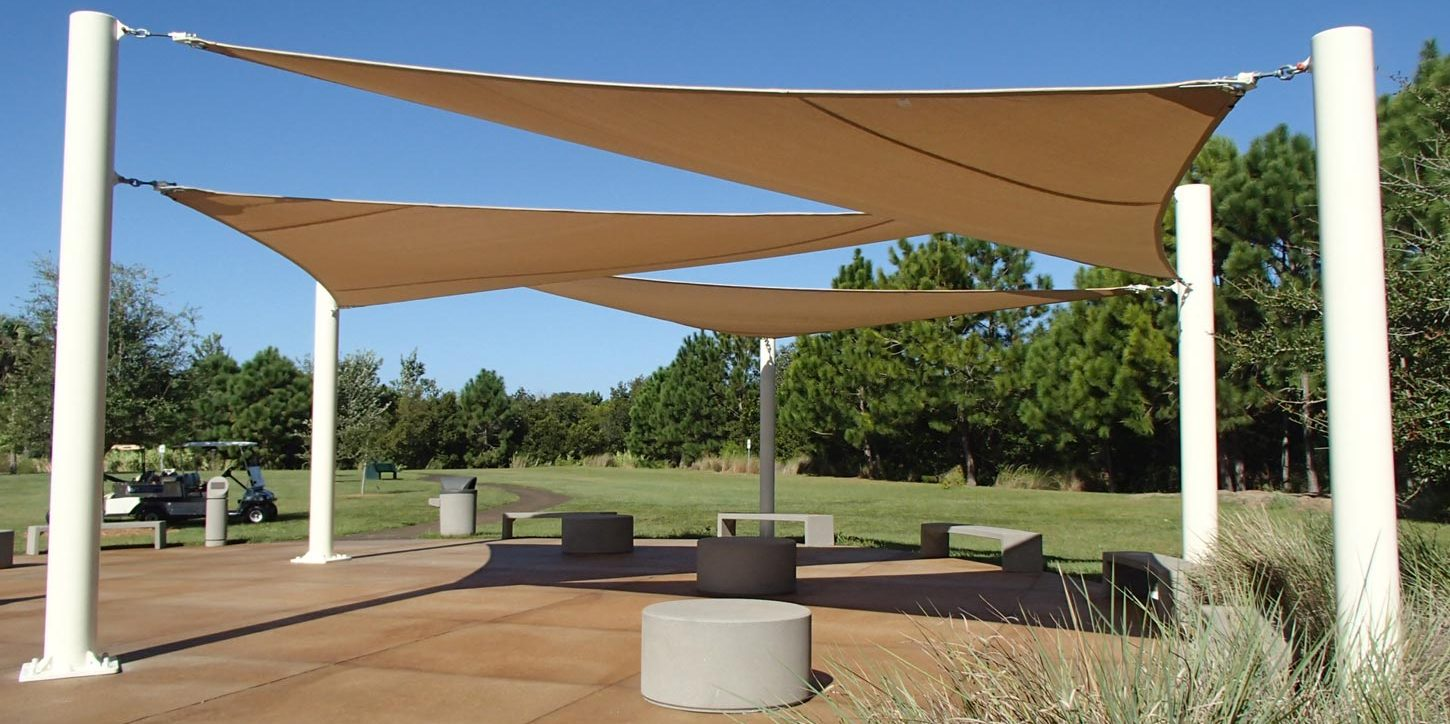 St. Petersburg College tension shade sails